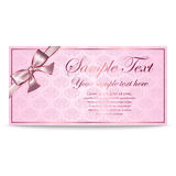 Gift Card, Sertificate, Coupon, Invitation Stock Images