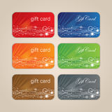 Gift Card Set Stock Image