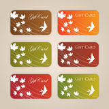 Gift Card Set Royalty Free Stock Photo