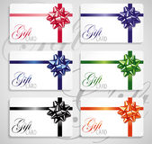 Gift card set royalty free illustration