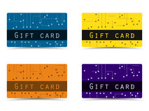 Gift card. Set  plastic gift cards. Vector illustration. Royalty Free Stock Image