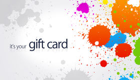 Gift Card - Splash Royalty Free Stock Photo