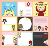 Gift card story set Royalty Free Stock Photos