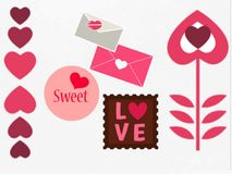 This is a gift card / striker, love symbol, vector. royalty free illustration