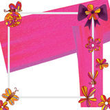 Gift card style purple pink frame Stock Photography