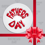 Gift card template with bow. fathers day design. Royalty Free Stock Image