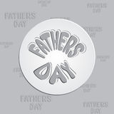 Gift card template with bow. fathers day design. Royalty Free Stock Photos