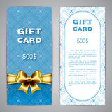 Gift card template Royalty Free Stock Photos