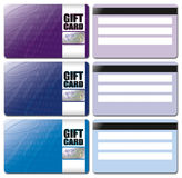 Gift Card Template Set 2 Royalty Free Stock Image