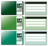Gift Card Template Set 4 Stock Images