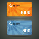 Gift card template with star and number. Royalty Free Stock Photography