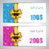Gift card template Royalty Free Stock Photography