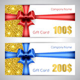 Gift card template Royalty Free Stock Images