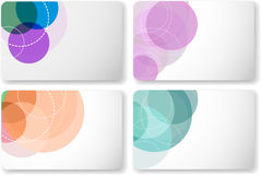 Gift card templates Stock Photography