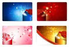Gift card templates, 86x54mm Royalty Free Stock Photography