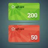 Gift card templates Stock Images
