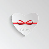 Gift card  for Valentine's day Royalty Free Stock Photo