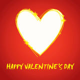 Gift card. Valentine's Day heart. Royalty Free Stock Photo