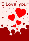 Gift card. Valentine's Day. Vector background Stock Image