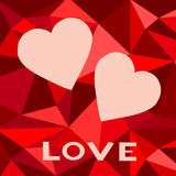 Gift card. Valentine's Day. Vector background Stock Photos