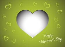 Gift card. Valentines Day Royalty Free Stock Photo