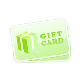 Gift card vector icon Royalty Free Stock Image