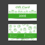 Gift card vector template Stock Photography