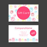 Gift card vector template Stock Image