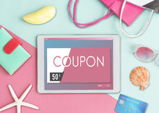 Gift Card Voucher Coupon Graphic Concept Stock Photography