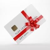 Gift card. On white background Stock Photos