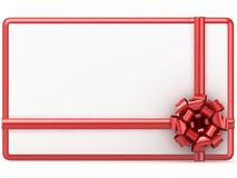 Gift Card on white background Royalty Free Stock Image