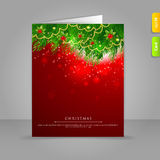 Gift card with Xmas branch. Vector illustration of Gift card with Xmas branch Stock Images