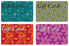 Gift cards Stock Photos