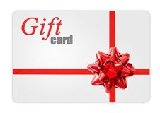 Gift cards. With a  ribbon and bow Stock Image