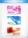 Gift cards Stock Image