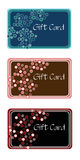 Gift Cards. Three variations of a gift card drawn in Illustrator CS2 Royalty Free Stock Image
