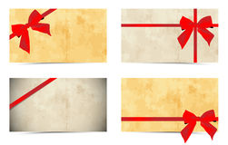 Gift cards. Abstract gift cards with bow and ribbons Stock Photography