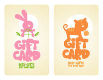 Gift cards for baby. Royalty Free Stock Photo