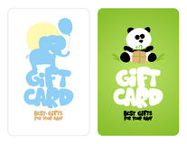 Gift cards for baby. Royalty Free Stock Photos