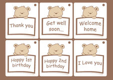 Gift cards with bears Stock Images