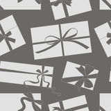 Gift cards with bows vector set pattern Stock Images