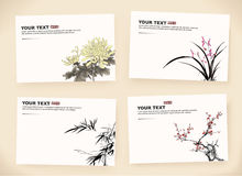 Gift cards. Of chinese painting Stock Image