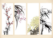 Gift cards. Of chinese painting Stock Photography