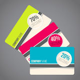 Gift cards with discounts Stock Images