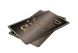 Gift cards, isolated on white Royalty Free Stock Photography