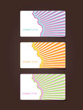 3 gift cards with place for your own text. Vector art Royalty Free Stock Photo