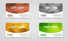Gift cards polygonal background royalty free illustration
