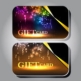 Gift cards with ribbons. Collection of gift cards with ribbons. Vector background Stock Photo