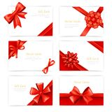 Gift Cards Set Royalty Free Stock Photos