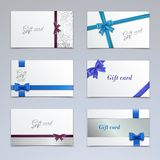 Gift cards set Stock Photos